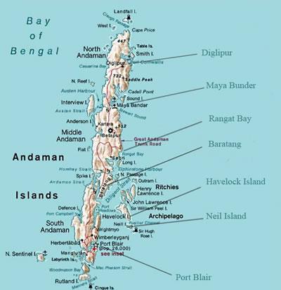 Andaman Map City